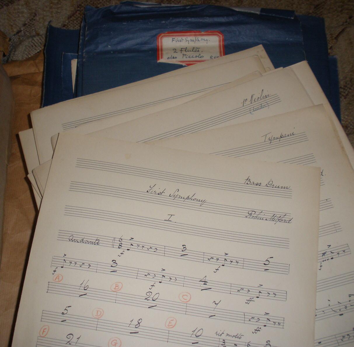 First Symphony set of parts