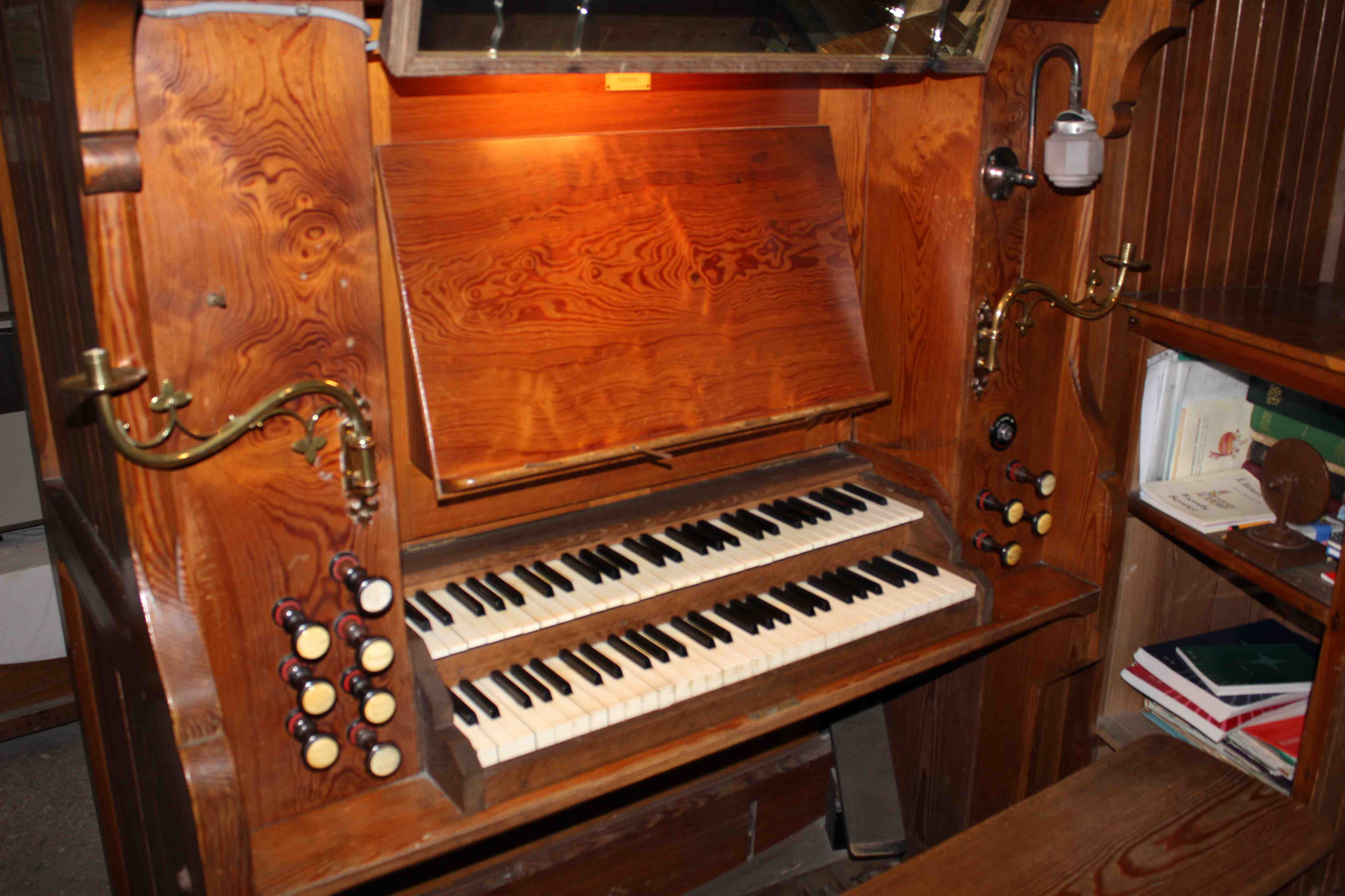 Butcombe Parish Church organ, which Milford played